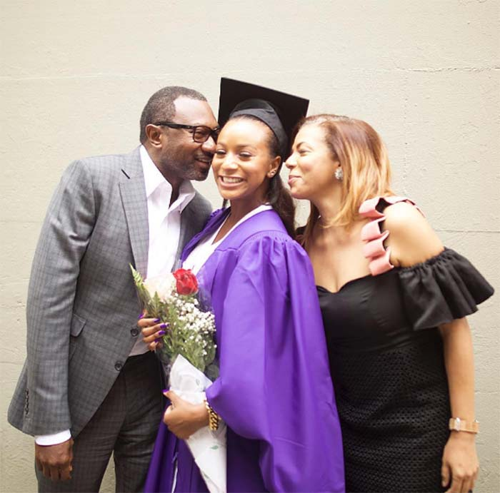 Femi Otedola, his wife and daughter Dj Cuppy