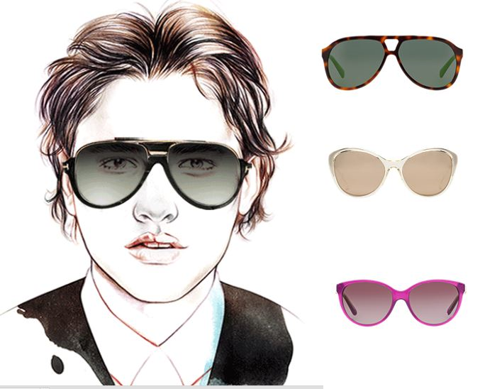 A few shades for the heart-shaped face