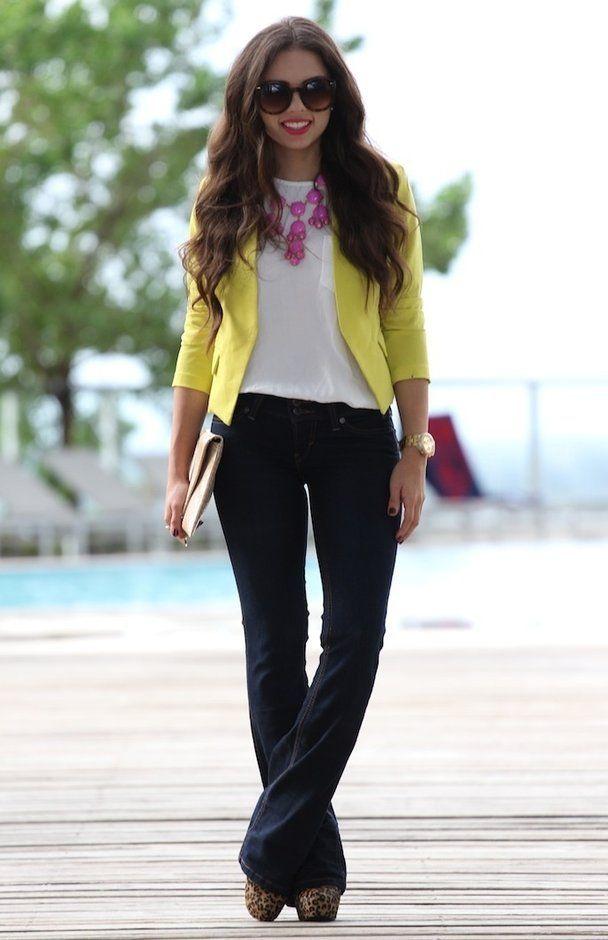 b4e33b610ba00f63426d0b5b3b1e1b38--summer-work-outfits-yellow-blazer