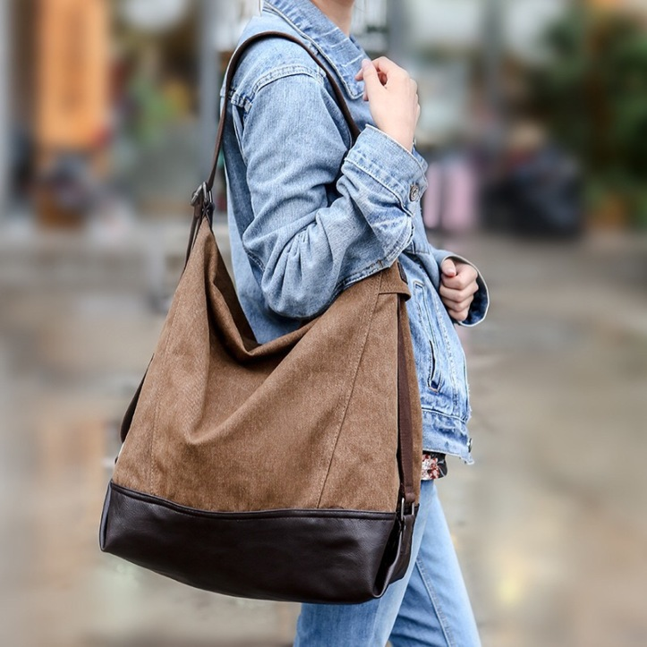 A brown over-sized bag