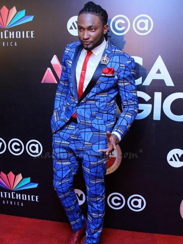 Uti Nwachukwu in an Ankara suit