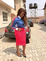 Esther Audu Ojire in Shirt Freak'